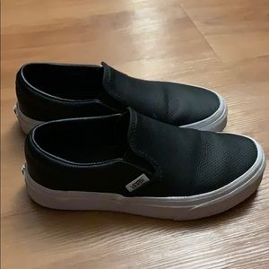 Vans perforated leather slip-ons